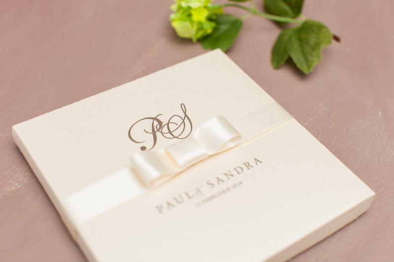 Invitatie nunta in cutie ivory - poza 2