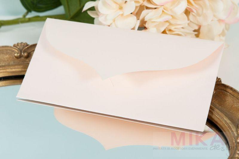 Invitatie nunta pastel cu dantela - poza 3