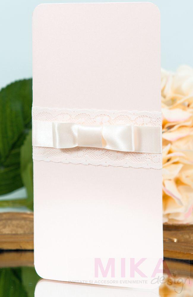 Invitatie nunta pastel cu dantela - poza 4