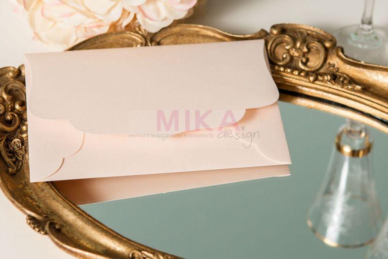 Invitatie nunta vintage cu trandafiri - poza 5
