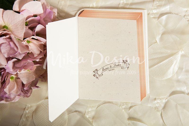 Invitatie nunta vintage model cartica 3D - poza 3