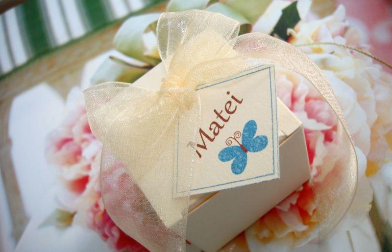 Marturie botez cu fluturas roz sau bleu - poza 2