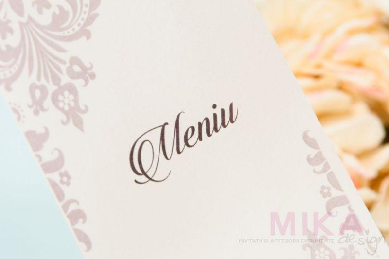 Meniu nunta elegant ivory - poza 1