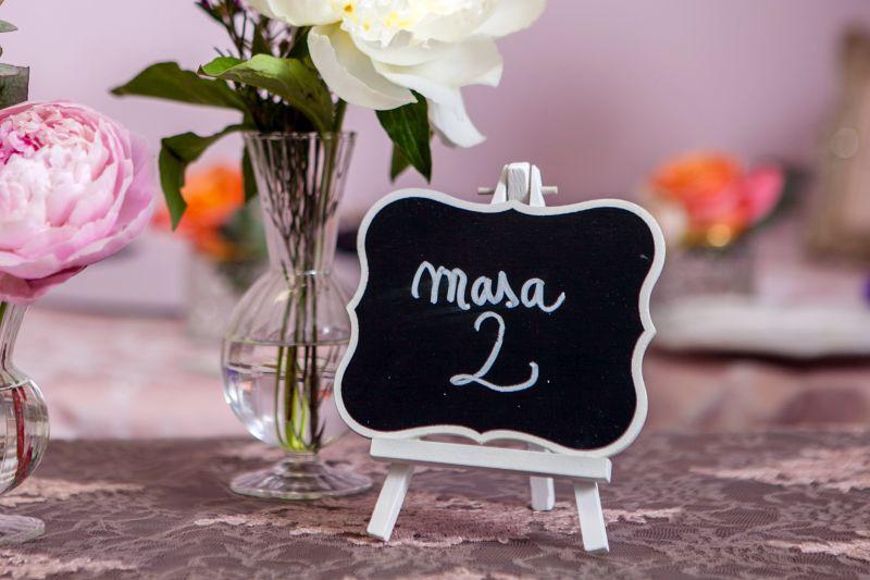 Numar masa nunta rustica, garden party - poza 1