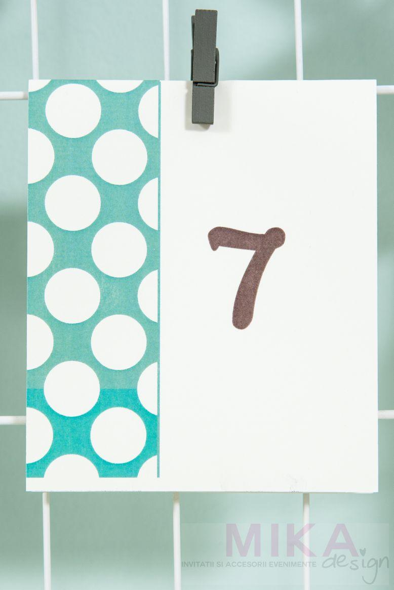 Numere masa cu buline colorate - poza 2