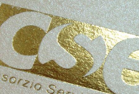 Personalizare felicitare Craciun sau plic cu logo folio auriu - poza 1