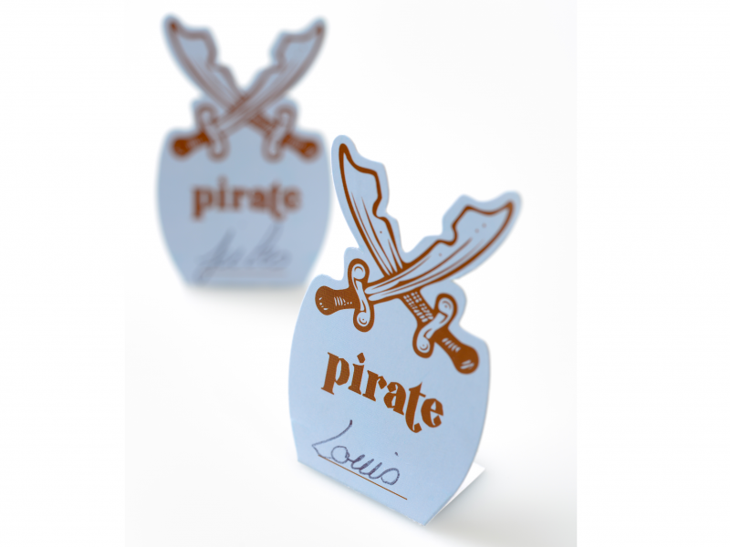 place card Pirate