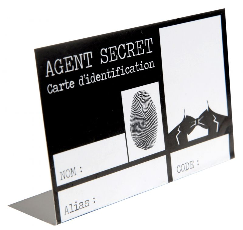Place card Secret Agent - poza 2