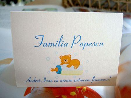 Card pentru masa cu nume invitati - poza 2