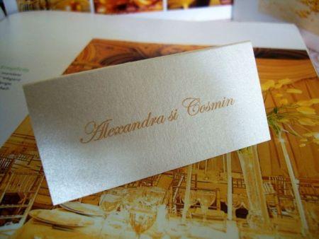 Place card nunta simplu