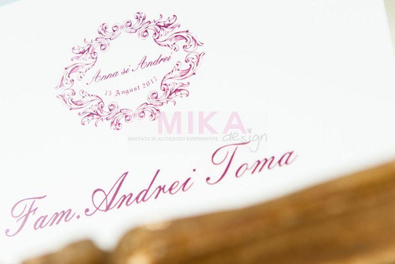 Plic bani nunta ivoire cu visiniu - poza 2