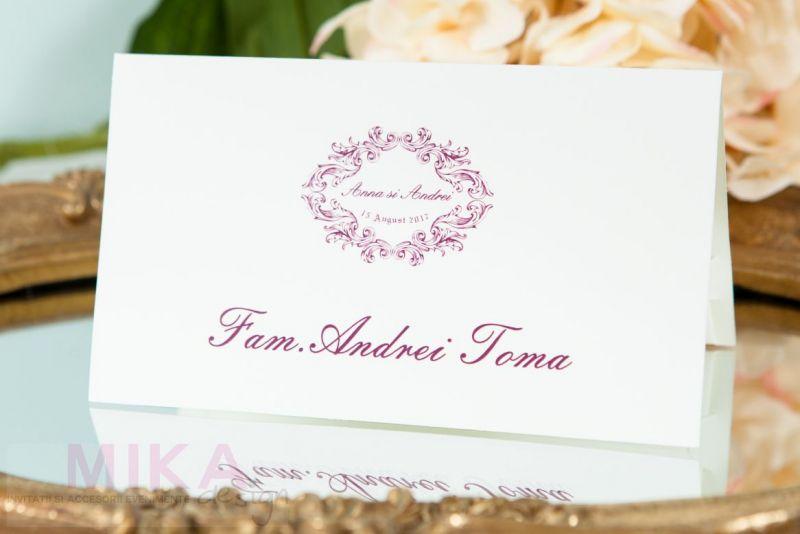 Plic bani nunta ivoire cu visiniu - poza 1