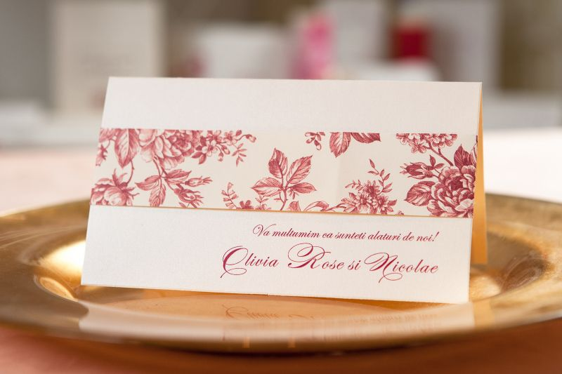 Plic bani design floral vintage - poza 1