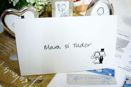 Card pentru bani haios cu mire si mireasa stilizati - poza 1