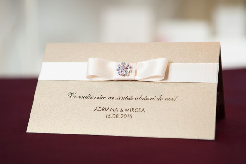 Plic bani nunta auriu elegant - poza 1