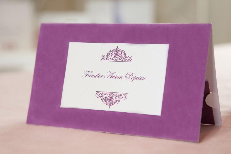Plic bani nunta catifea lila - poza 1