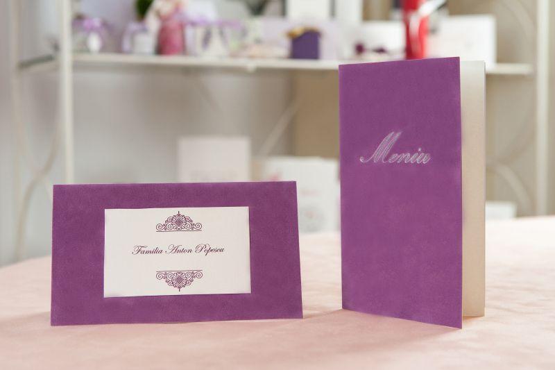 Plic bani nunta catifea lila - poza 2