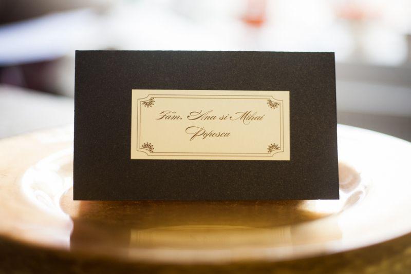 Plic bani nunta maro sidefat - poza 1