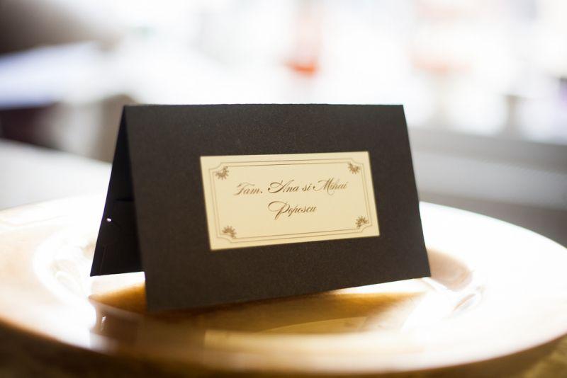 Plic bani nunta maro sidefat - poza 2