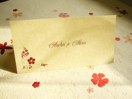 Card de masa nunta vintage - poza 1