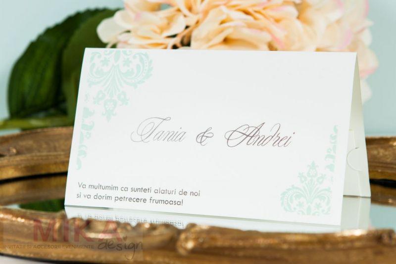 Plic bani nunta verde pastel - poza 1