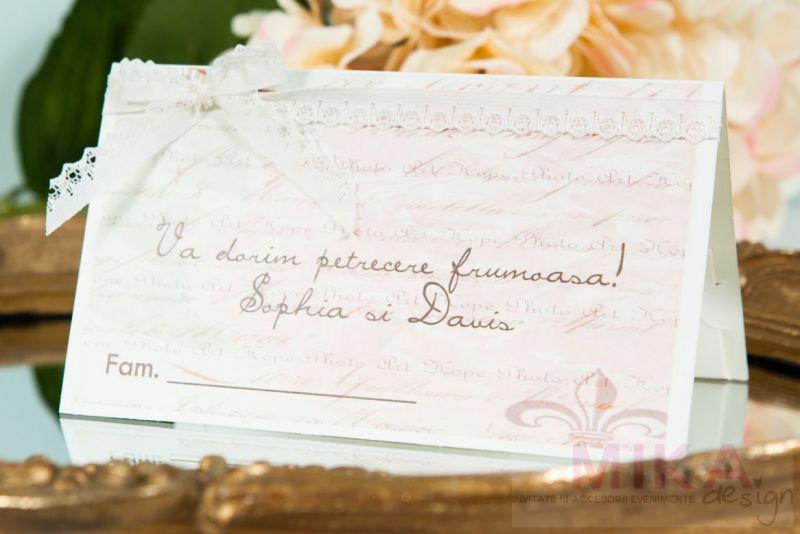 plic bani nunta vintage cu dantela