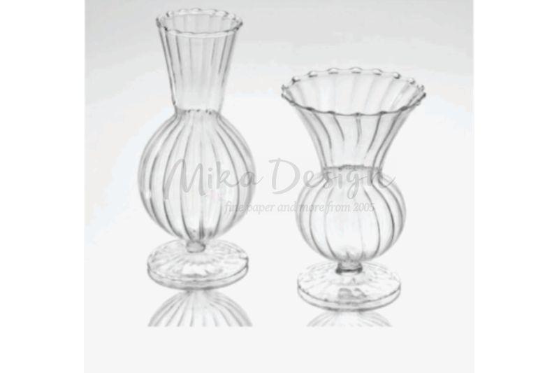 Set 2 vase sticla lace - poza 1