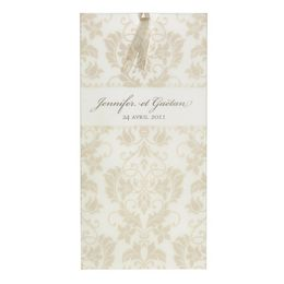 Invitatie nunta design baroc auriu