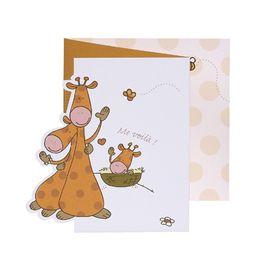 Invitatie vesel colorata, design  cu girafe - poza 1