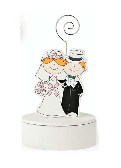 Marturii nunta cutiuta din lemn cu mire si mireasa - poza 1