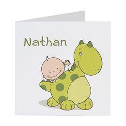 Invitatie petrecere copii vesela cu un mic dinozaur - poza 1