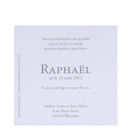Invitatie botez cu poza si ursulet argintiu - poza 2