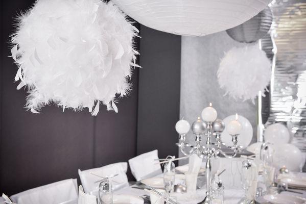 Bila mare pene decorative albe - poza 4