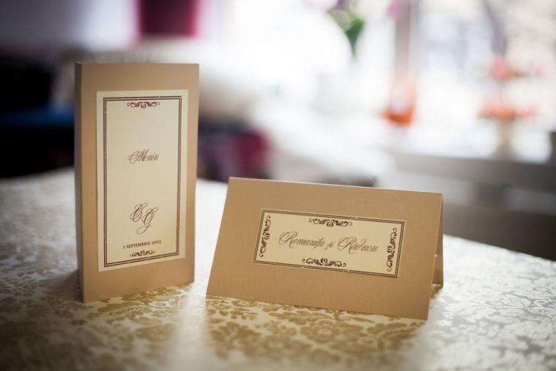 Card de bani pentru nunta cu eticheta crem cu design vintage - poza 2