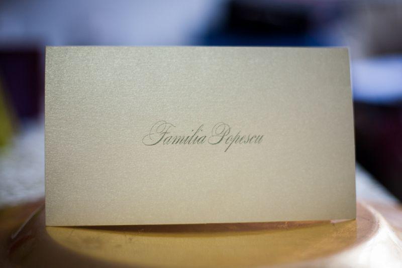 Card de masa elegant din carton argintiu - poza 2