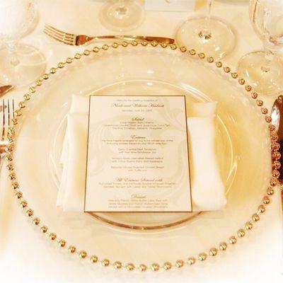 Farfurii sticla cu margini aurii sau argintii - poza 2