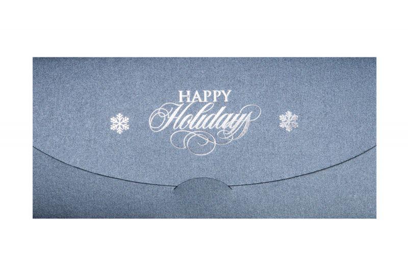 Felicitare Craciun business  eleganta argintie - poza 2