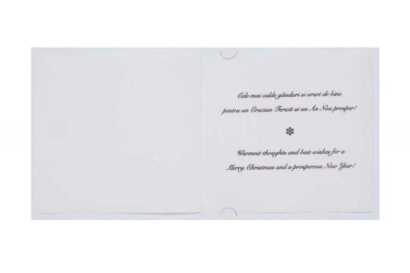 Felicitare Craciun cu bradut folio albastru - poza 3
