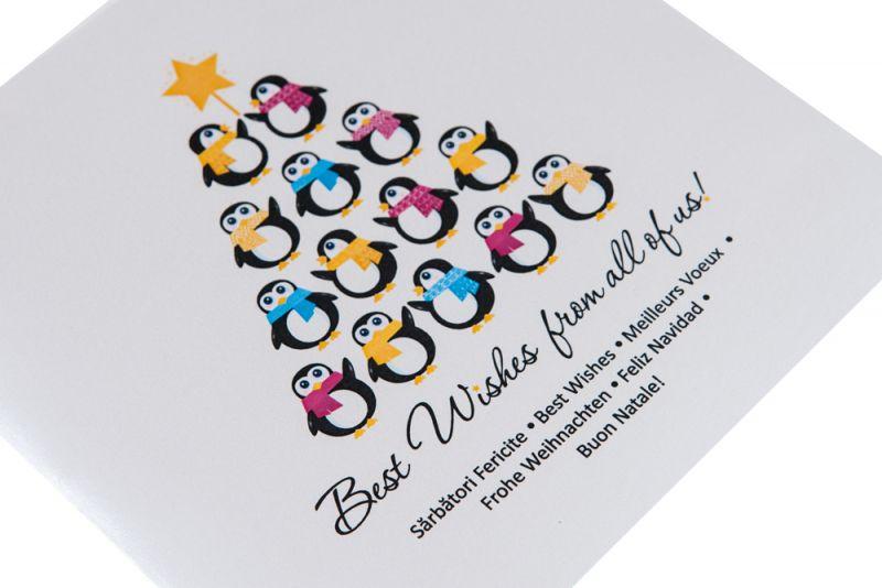 Felicitare Craciun cu pinguini haiosi - poza 2