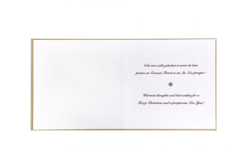 Felicitare de Craciun bleumarin cu auriu - poza 3