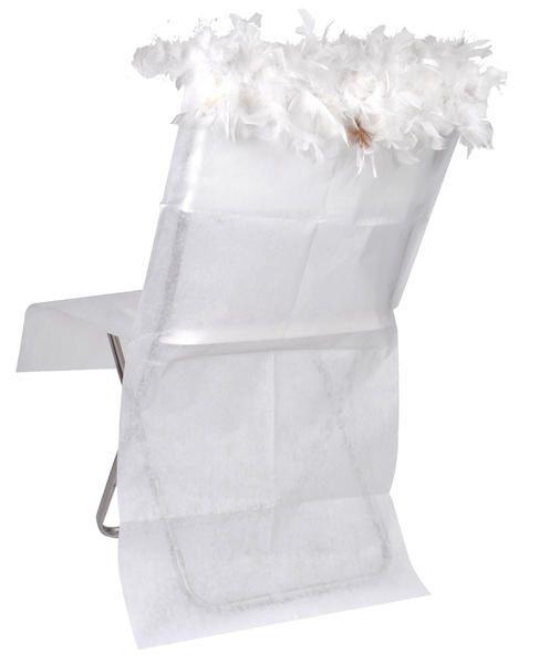 Husa scaun cu pene decorative - poza 2