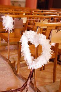 Inima pene albe decorative - poza 2