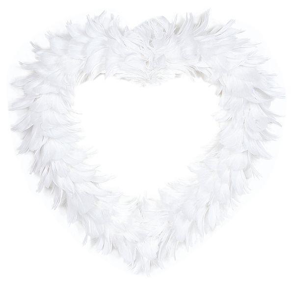 Inima pene albe decorative - poza 3