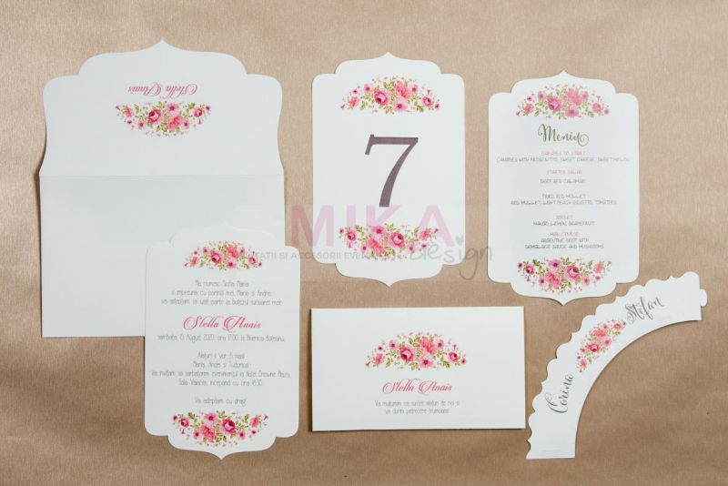 Invitate nunta tematica florala