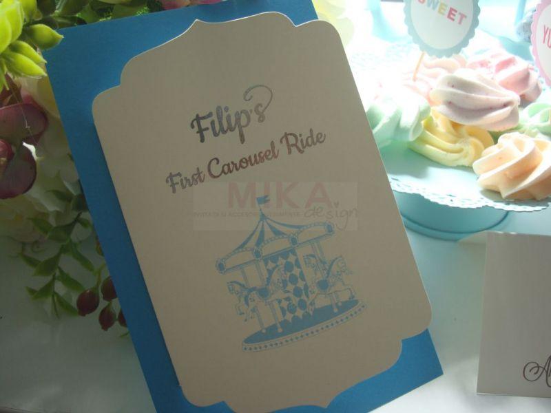 Invitatie Carusel Ride baiat - poza 4