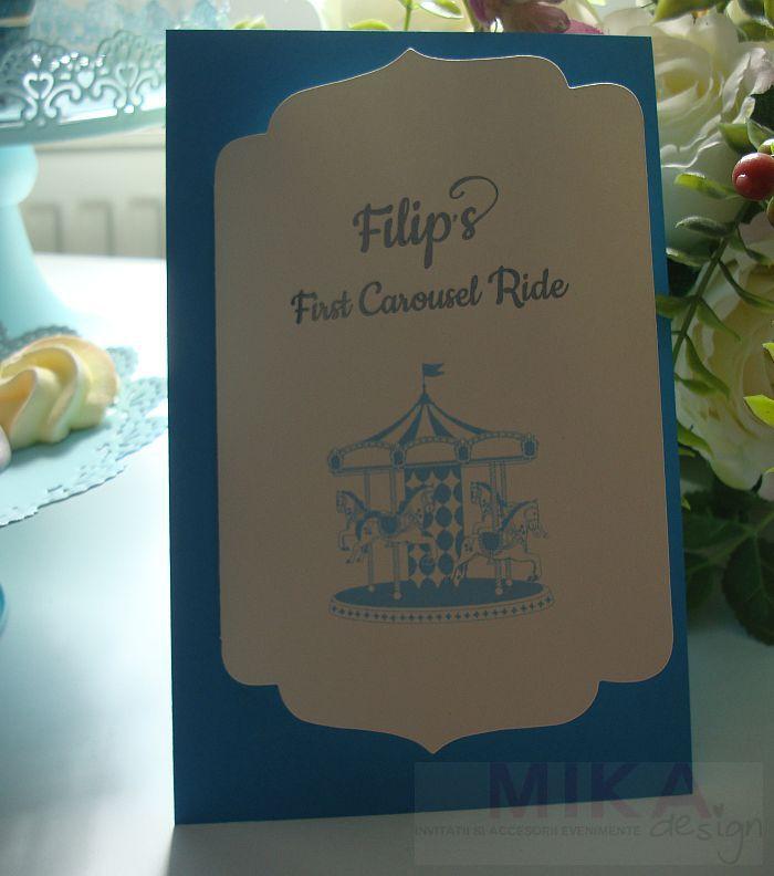 Invitatie Carusel Ride baiat - poza 2