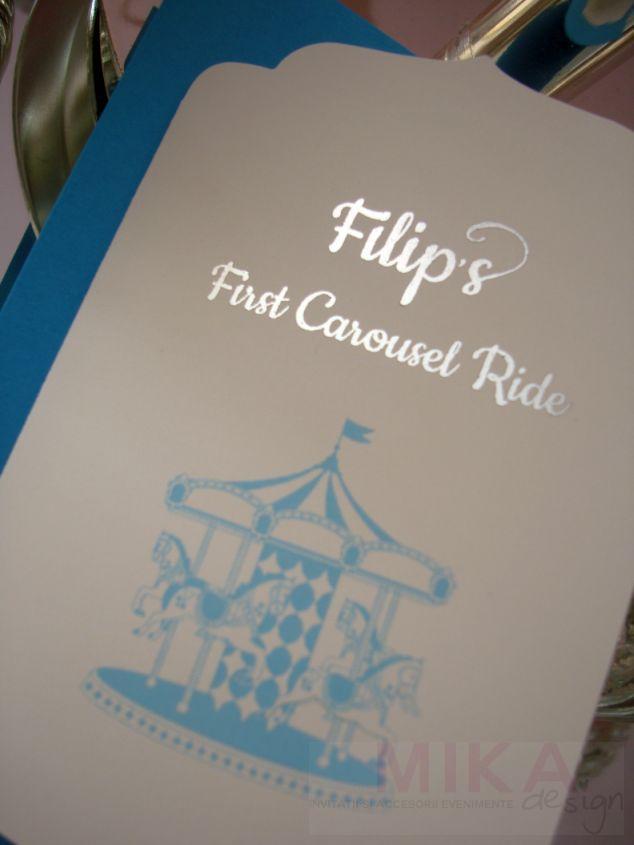 Invitatie Carusel Ride baiat - poza 1