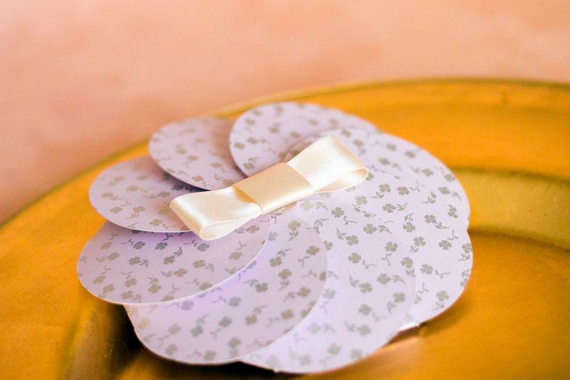 Invitatie botez fetita model floare lila - poza 1
