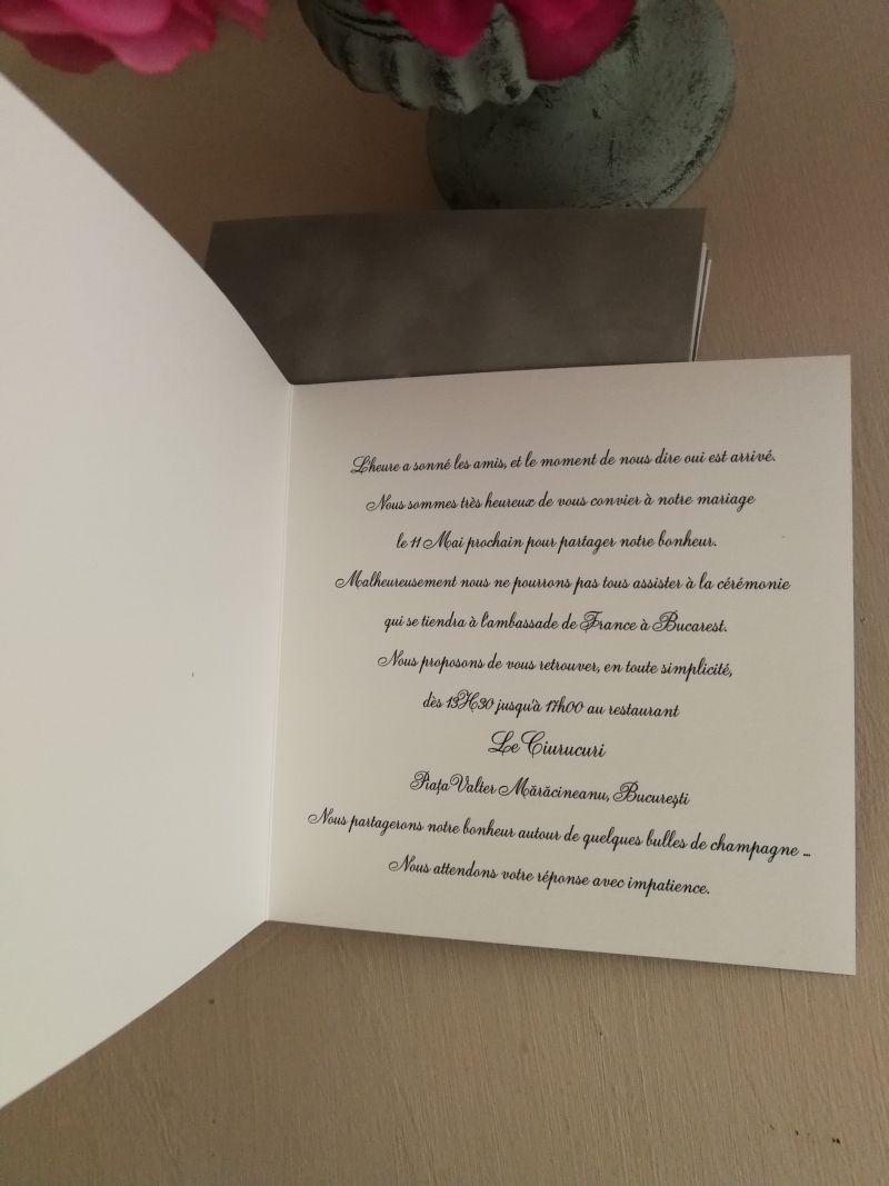 Invitatie din catifea platinum - poza 2
