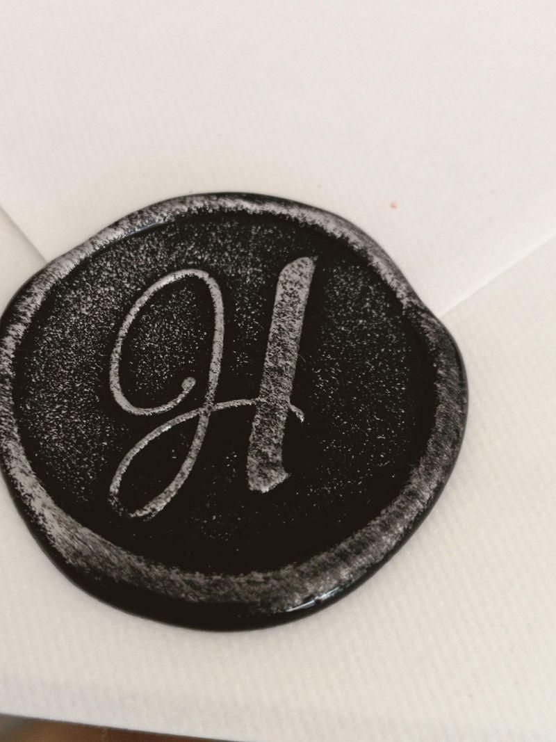 Invitatie eleganta alb negru - poza 4